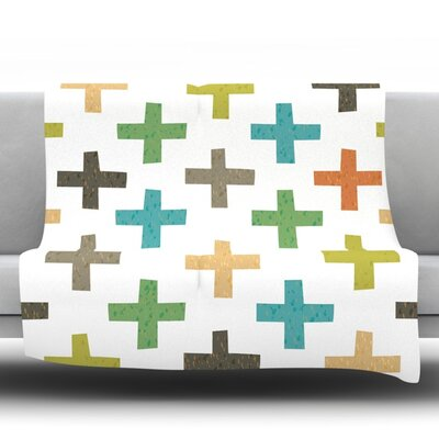 Hipster Crosses by Daisy Beatrice Fleece Throw Blanket Size: 60 H x 50 W