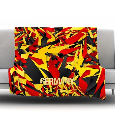 Germany by Danny Ivan Fleece Throw Blanket Size: 80 H x 60 W