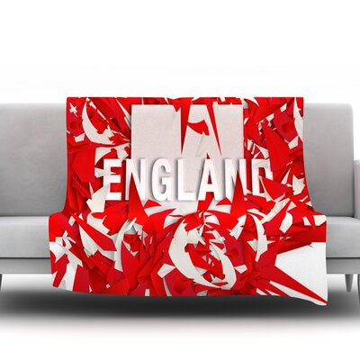 England by Danny Ivan Fleece Throw Blanket Size: 40 H x 30 W