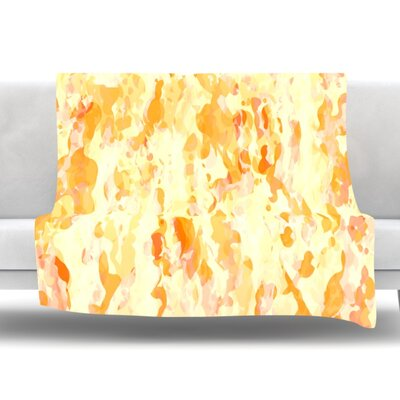 Explosion by CarolLynn Tice Fleece Throw Blanket Size: 80 L x 60 W