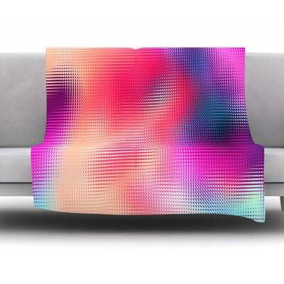 Abstract by Danny Ivan Fleece Throw Blanket Size: 80 H x 60 W
