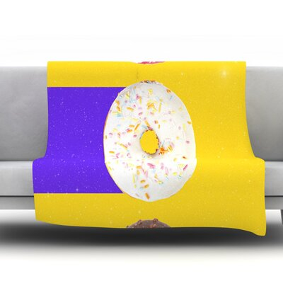 Donuts by Danny Ivan Fleece Throw Blanket Size: 80 H x 60 W