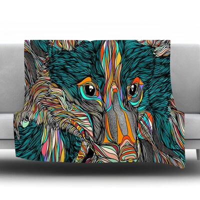 Fox by Danny Ivan Fleece Throw Blanket Size: 80 H x 60 W