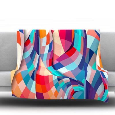 Versicolor by Danny Ivan Fleece Throw Blanket Size: 80 H x 60 W