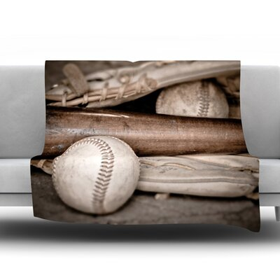 Play Ball by Debbra Obertanec Fleece Throw Blanket Size: 80 L x 60 W