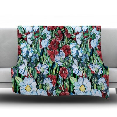 Giardino by DLKG Design Fleece Throw Blanket Size: 80 L x 60 W