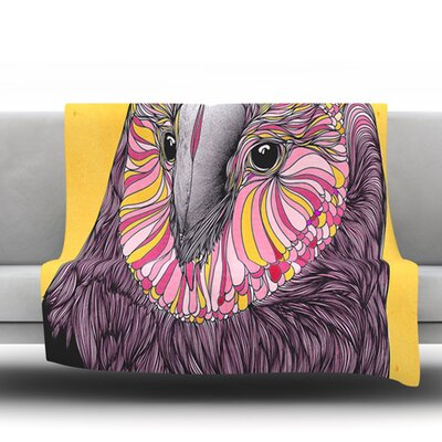 Lovely Owl by Danny Ivan Fleece Throw Blanket Size: 80 H x 60 W