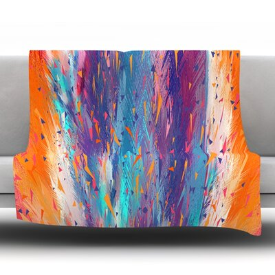 Colorful Fire by Danny Ivan Fleece Throw Blanket Size: 80 H x 60 W