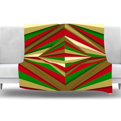 Christmas Pattern by Danny Ivan Fleece Throw Blanket Size: 40 L x 30 W