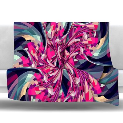Spiral by Danny Ivan Fleece Throw Blanket Size: 80 H x 60 W