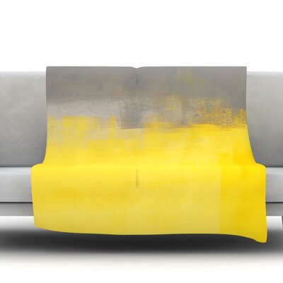 A Simple Abstract by CarolLynn Tice Fleece Throw Blanket Size: 40 L x 30 W