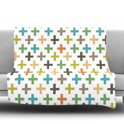 Hipster Crosses Repeat by Daisy Beatrice Fleece Throw Blanket Size: 80 L x 60 W