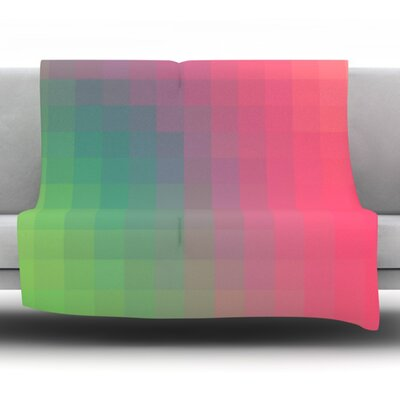 Gradient Print by Danny Ivan Fleece Throw Blanket Size: 40 H x 30 W