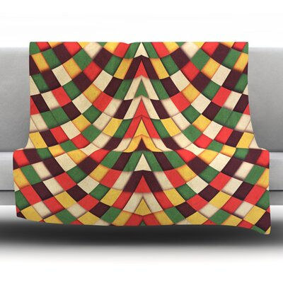 Rastafarian Tile by Danny Ivan Fleece Throw Blanket Size: 40 H x 30 W