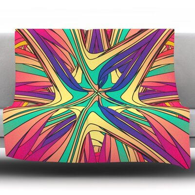 Veins by Danny Ivan Fleece Throw Blanket Size: 60 L x 50 W