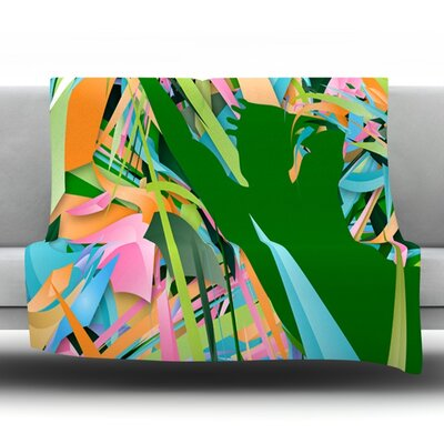 Soccer Defense by Danny Ivan Fleece Throw Blanket Size: 80 H x 60 W