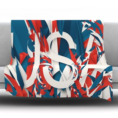 USA by Danny Ivan Fleece Throw Blanket Size: 60 H x 50 W