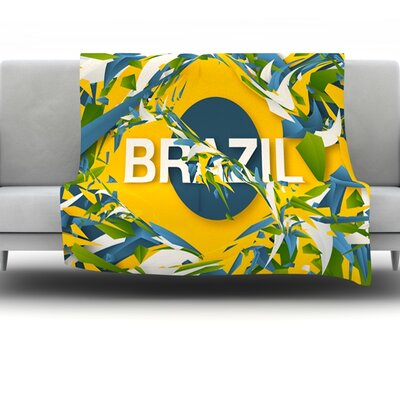 Brazil by Danny Ivan Fleece Throw Blanket Size: 60 H x 50 W