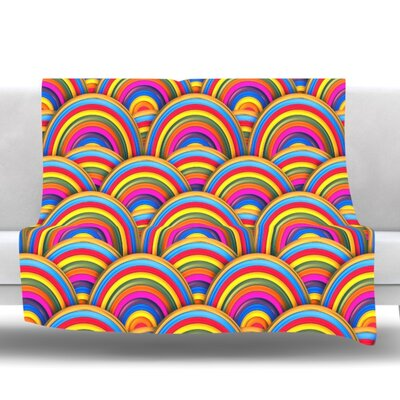 Rainbows by Danny Ivan Fleece Throw Blanket Size: 80 L x 60 W