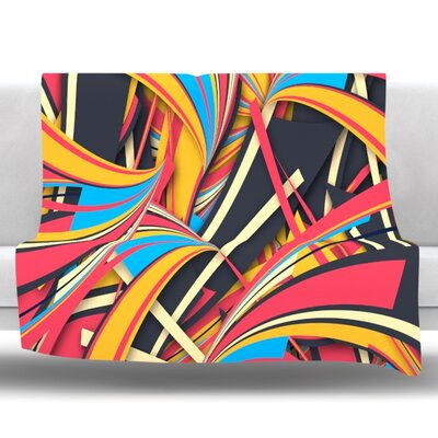 Slippery Slope by Danny Ivan Fleece Throw Blanket Size: 60 H x 50 W