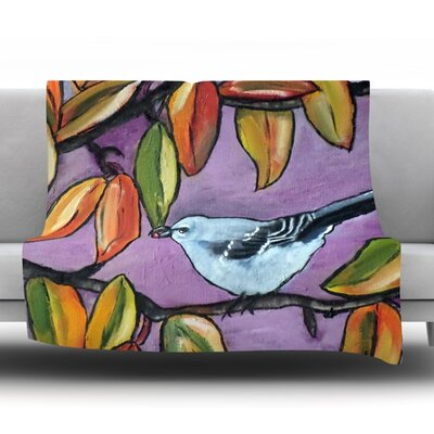 Mockingbird by Cathy Rodgers Fleece Throw Blanket Size: 40 L x 30 W