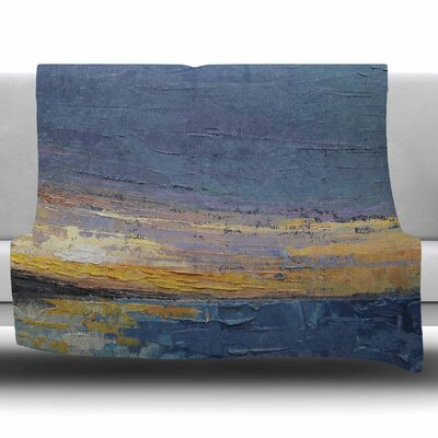 Caribbean Sunset by Carol Schiff Fleece Throw Blanket Size: 40 L x 30 W