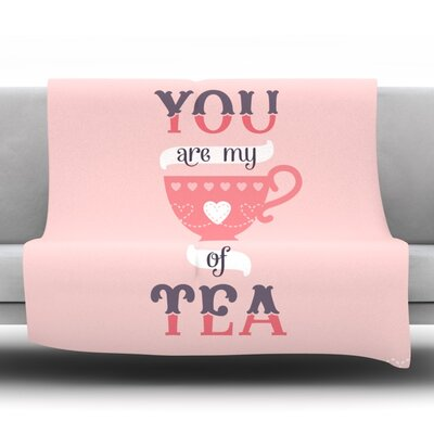 My Cup of Tea by Daisy Beatrice Fleece Throw Blanket Size: 80 L x 60 W