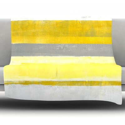 Lemon by CarolLynn Tice Fleece Throw Blanket Size: 80
