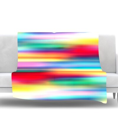 Blurry Cool by Danny Ivan Fleece Throw Blanket Size: 60