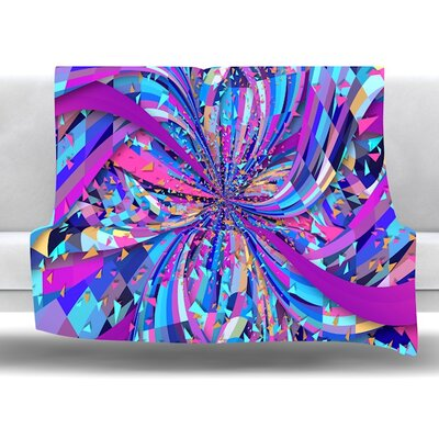 Flavours Explosion by Danny Ivan Fleece Throw Blanket Size: 40 L x 30 W