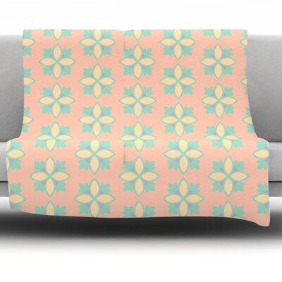 Pattern #1 by Deepti Munshaw Fleece Throw Blanket Size: 60 L x 50 W