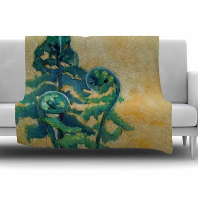Fiddleheads by Carol Schiff Fleece Throw Blanket Size: 40 L x 30 W