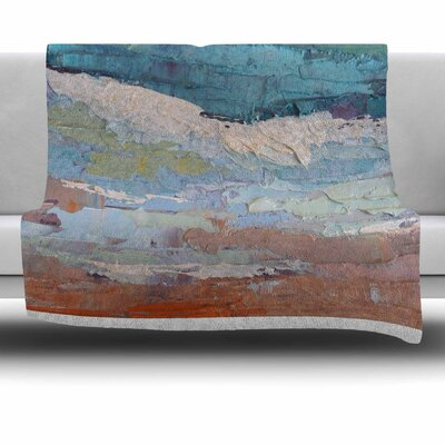 On the Beach by Carol Schiff Fleece Throw Blanket Size: 40 L x 30 W
