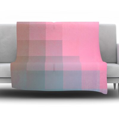 Girly Pixel Surface by Danny Ivan Fleece Throw Blanket Size: 60 H x 50 W