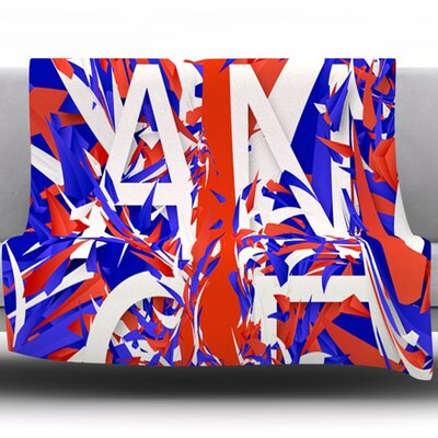 France by Danny Ivan Fleece Throw Blanket Size: 80 H x 60 W
