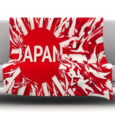 Japan by Danny Ivan Fleece Throw Blanket Size: 60 H x 50 W