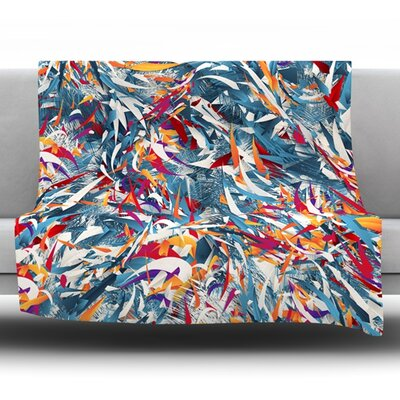 Excited Colours by Danny Ivan Fleece Throw Blanket Size: 60 L x 50 W