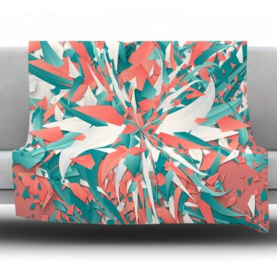 Like Explosion by Danny Ivan Fleece Throw Blanket Size: 60 H x 50 W