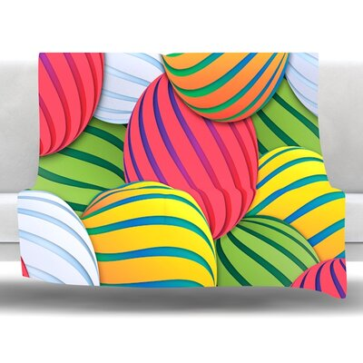 Melons by Danny Ivan Fleece Throw Blanket Size: 80 L x 60 W