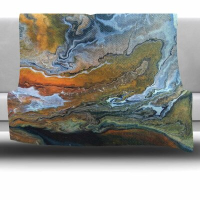 Geologic Veins by Carol Schiff Fleece Throw Blanket Size: 60 H x 50 W