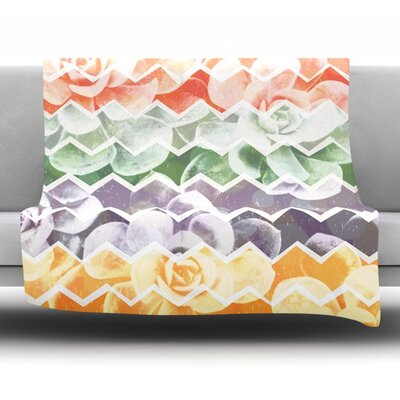 Desert Dreams by Daisy Beatrice Fleece Throw Blanket Size: 60 L x 50 W