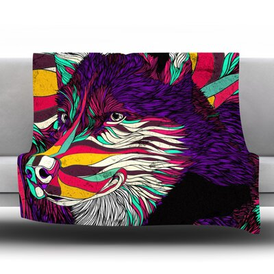 Color Husky by Danny Ivan Fleece Throw Blanket Size: 40 H x 30 W