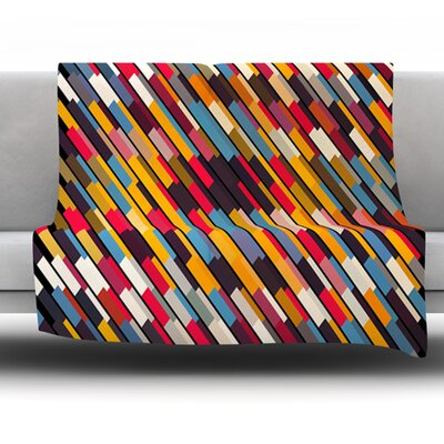 Texturize by Danny Ivan Fleece Throw Blanket Size: 60 H x 50 W