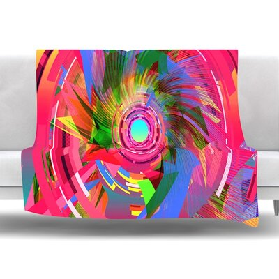 Fun Hole by Danny Ivan Fleece Throw Blanket Size: 60 L x 50 W