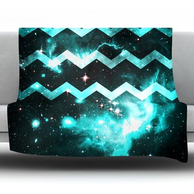 Galaxy Chevron by Alveron Fleece Throw Blanket Size: 80 H x 60 W