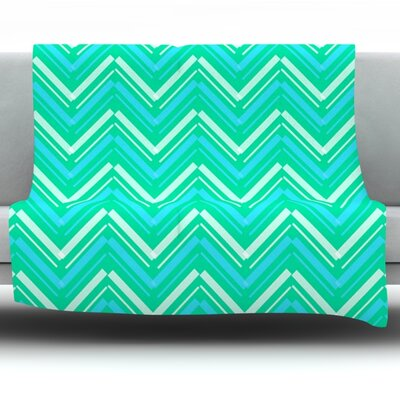 Symetrical by CarolLynn Tice Fleece Throw Blanket Size: 80 H x 60 W