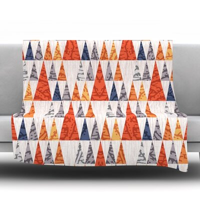 Tepee Town by Daisy Beatrice Fleece Throw Blanket Size: 80 L x 60 W