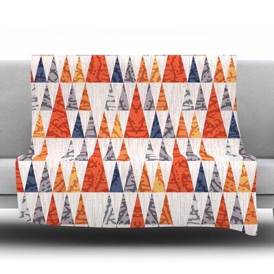 Tepee Town by Daisy Beatrice Fleece Throw Blanket Size: 60 L x 50 W
