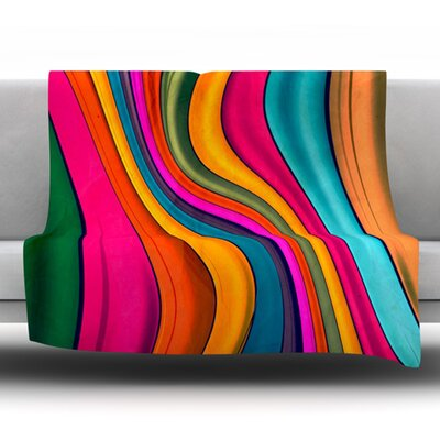 Love Color by Danny Ivan Fleece Throw Blanket Size: 80 H x 60 W