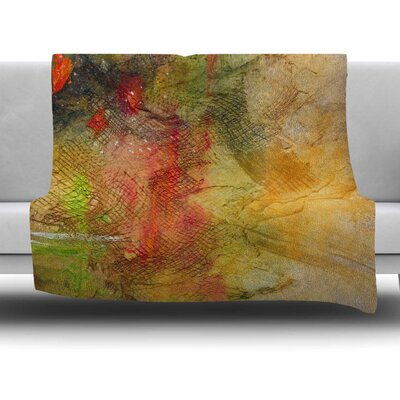 Poppyfield by Carol Schiff Fleece Throw Blanket Size: 40 L x 30 W